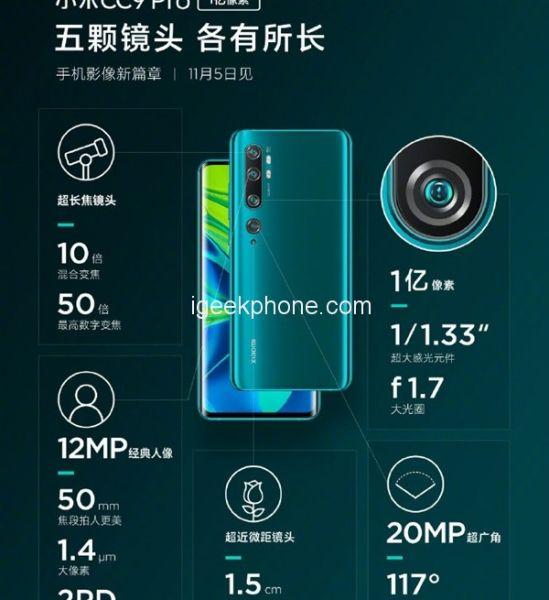 Xiaomi Mi Note 10: Смартфон с камерой на 108 Мп