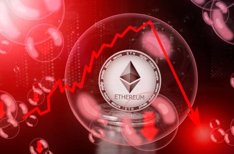 Ethereum опустился до $124, потеряв 91% стоимости относительно своего ценового максимума