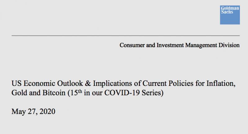 Как Goldman Sachs сделали хорошую рекламу биткоину?