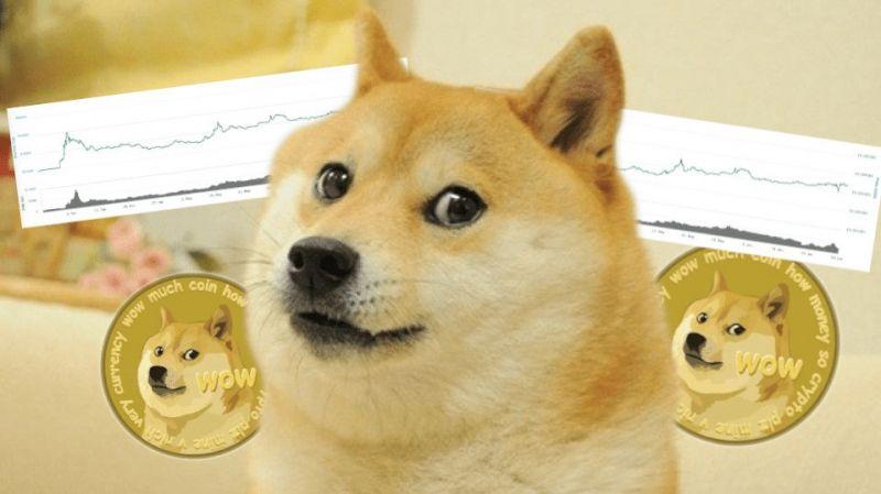 После двухлетних максимумов, цена Dogecoin устремилась вниз