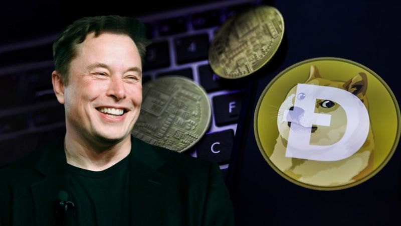 Dogecoin опять растет из-за Илона Маска
