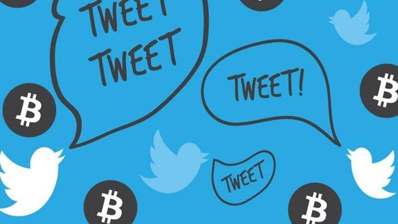 Число твитов о биткоине достигло максимума