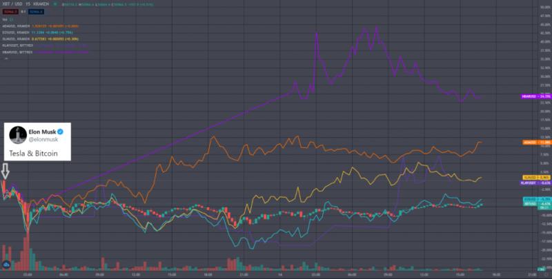 Решение Tesla насчет биткоина помогло укрепить цены монет на на PoS