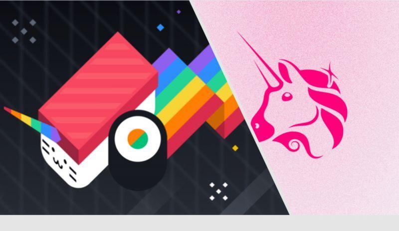 Пользователи сайта Uniswap.com перенаправляются к конкуренту Sushiswap