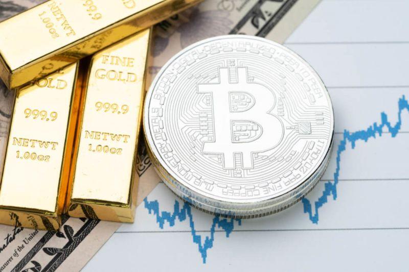 Цена биткоина не последовала за падением золота