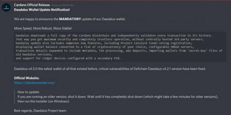 Пользователи могут лишиться Cardano из-за фальшивого кошелька Daedalus