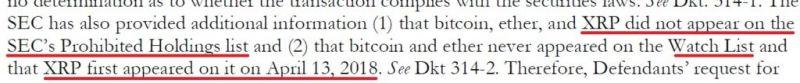 SEC не рассматривала изначально токен XRP как ценную бумагу