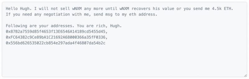 Хакер, укравший у Nexus Mutual $8 млн, потребовал еще, но его вычислили